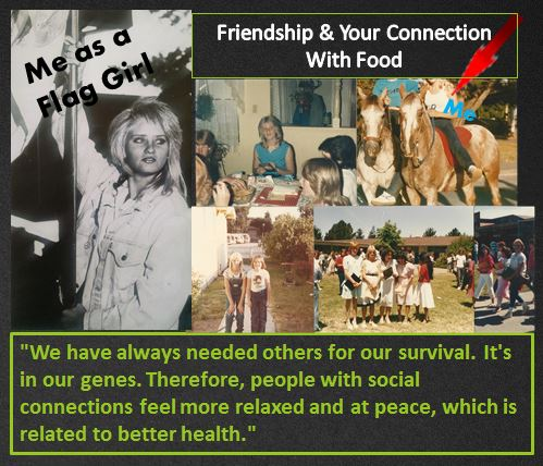 Collage of friends and friend quote